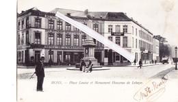 MONS - Place Louise Et Monument Houzeau De Lehaye - Cachet Postal Hyon-Ciply 1910