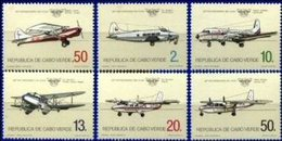 CAPE VERDE, 1984, AIRPLANES, ICAO, YV#482-87; R#123-28, MNH - Cape Verde