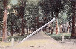MONS - Les Boulevards - Splendide Carte Colorée Et Circulée En 1925