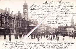 MONS - Grand'Place (Phototypie Gérardon, Liège) - Carte Très Animée