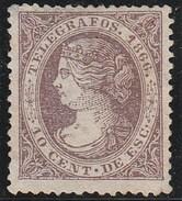 ESPAGNE 1866 - Télégraphe (Telegrafos) N° 13 - Neuf Sans Gomme - Telegrafen