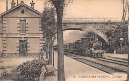 ¤¤  -  33   -  CONFLANS-FIN-D'OISE   -   La Gare   -  Train , Chemin De Fer    -  ¤¤ - Conflans Saint Honorine