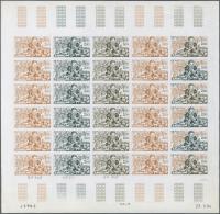 "Thematik: Druck-Literatur / Printing-literature: 1984, Monaco, 2.00fr. ""Gargantua"", Imperf. Colour Proof Sheet Of 30 Sta"
