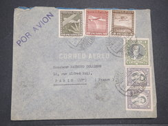 CHILI - Enveloppe De Santiago Pour La France En 1938 Par Avion , Affranchissement Plaisant - L 7883 - Chili