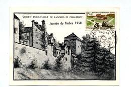 Carte Cachet Chaumont Journee Du Timbre 1958