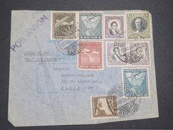 CHILI - Enveloppe De Santiago Pour La France En 1938 Par Avion , Affranchissement Plaisant - L 7884 - Chili