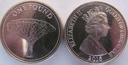 """New!!! Gibraltar 1 Pound 2016 """"Dragon Tree"""" UNC - Gibraltar"""