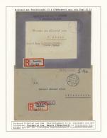 """Tschechoslowakei: 1945, Umfangreiche Ausstellungs-Sammlung """"R-Zettel Der Dt. Reichspost - Weiter Verwendet Von Tschechis"""