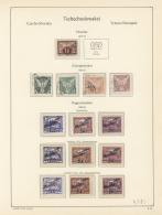 Tschechoslowakei: 1918/1938, Meist Ungebrauchte Und Gestempelte Sammlung Mit Einigen Kpl. Ausgaben Und Besonderheiten, E