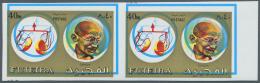 Thematik: Persönlichkeiten - Gandhi / Personalities - Gandhi: Fujeira, 1973, 40 Dirham Gandhi And Scale, 2 Imperfor