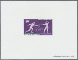 Thematik: Persönlichkeiten - Gandhi / Personalities - Gandhi: 1968, Olympic Games Mexico, Assortment Of 25 Epreuve