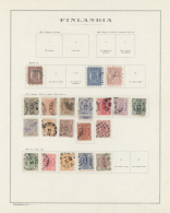 Finnland: 1866/1941, Used And Mint Collection On Album Pages, From Three Copies Rouletted Stamps, Following Issues, Char