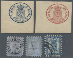 Finnland: 1860-1930's (c.): More Than 300 Stamps, Mint And Used, On Old Approval Booklet Panes And In Paper Bags, With A