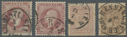 Norwegen: 1856-1930's C.: More Than 400 Stamps, Mint And Used, On Old Approval Booklet Panes And In Paper Bags, With A L