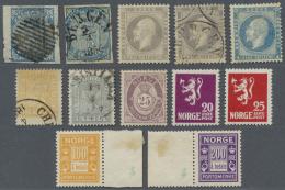 Norwegen: 1855/1960 (ca.), Bestand Von Meist Besseren Ausgaben Mit Vielen Kompletten Sätzen U.a. Netter Klassikteil
