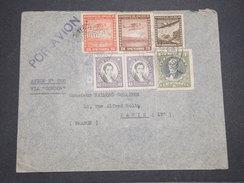 CHILI - Enveloppe De Santiago Pour La France En 1938 Par Avion , Affranchissement Plaisant - L 7886 - Chili