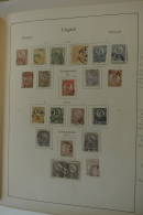 Ungarn: 1871/1975: Well Filled, Mostly Used Collection Hungary 1871-1975 In 2 Albums. Collection Contains Much Better Ma