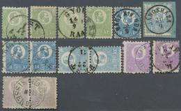 Ungarn: 1871, Franz Josef Steindruck, Gestempelte Sammlungspartie Mit 51 Marken, Dabei 4mal 3 Kr., 10 Kr. Mit 10 Einzelm
