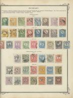 Ungarn: 1871/1950, Gestempelte Und Ungebrauchte Sammlung, Sehr Reichhaltig Auf Alten Vordrucken Zusammengetragen, Mit Gu
