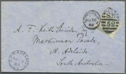 Großbritannien: 1884/1898, Lot Of Nine Better Covers (single Lots), E.g. 4d. Dull Green (SG 192), Three Copies 6d.