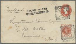 "Großbritannien: 1859/1941, INSTRUCTION MARKS, Lot Of 12 Entires Showing Instruction Marks, E.g. ""Late Fee"", ""Posta"