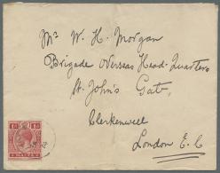 Großbritannien: 1855/1944, GB/British Europe, Group Of Eight Better Entires, E.g. QV Frankings (SG 62, 72, 194), C