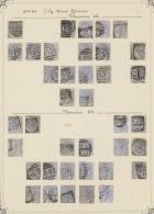 Großbritannien: 1880/1884, Specialised Assortment Of 169 Stamps: 2½d. Blue (SG 157) 41 Copies, 1d. Venetian