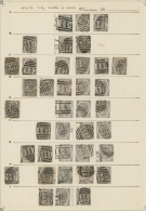 Großbritannien: 1873, 6d. Grey, Wm Spray Of Rose (SG 125), Specialised Assortment Of 74 Stamps.