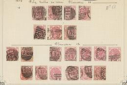 Großbritannien: 1873/1879, 3d. Rose, Wm Spray Of Rose (SG 143/44), Specialised Assortment Of 64 Stamps.