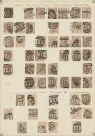 Großbritannien: 1872, 6d. Chestnut/buff, Wm Spray Of Rose (SG 122/23), Specialised Assortment Of 68 Stamps.
