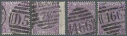 Großbritannien: 1869, 6d. Dull Violet/mauve, Lot Of 17 Used Copies, Bright Colours. SG 108/09, Apprx. £2300.