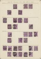Großbritannien: 1869/1870, 6d. Violet/mauve, Wm Spray Of Rose (SG 108/09), Specialised Assortment Of 222 Stamps.