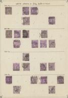 Großbritannien: 1867/1868, 6d. Lilac/purple, Wm Spray Of Rose (SG 104/107 Ex), Specialised Assortment Of 116 Stamp