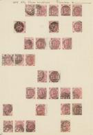 Großbritannien: 1865, 3d. Rose, Wm Emblems (SG 92), Specialised Assortment Of 30 Stamps.
