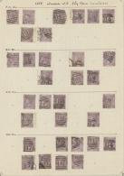 Großbritannien: 1865/1867, 6d. Lilac, Wm Emblems (SG 96/97), Specialised Assortment Of 208 Stamps.