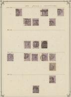 Großbritannien: 1862/1864, 6d. Lilac, Wm Emblems (SG 83/85 Ex), Specialised Assortment Of 164 Stamps.