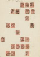 Großbritannien: 1862/1864, 4d. Red, Wm Large Garter (SG 79/82 Ex), Specialised Assortment Of 35 Stamps.