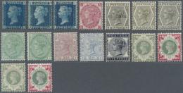 Großbritannien: 1854/1900, QV, Mint Assortment On Stocksheets, Slightly Varied Condition, Comprising A Nice Range