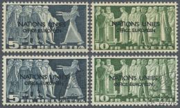 Schweiz - Europäisches Amt Der Vereinten Nationen (ONU/UNO): 1950/1969, Umfangreiche, Meist Postfrische Und Gestemp