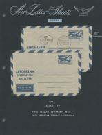 Österreich - Ganzsachen: 1952/1956, Kleine Sammlung Mit 18 Aerogrammen Ausstellungsmäßig Auf Blätte