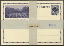 """Österreich - Ganzsachen: 1938 (ca.), Ganzsachen-Proben Der österreichischen Bildpostkartenserie """"Doppela"""