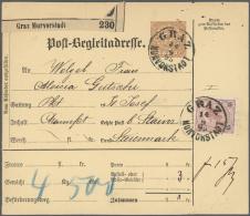 Österreich - Ganzsachen: 1890/1917 (ca.), PAKETKARTEN: Bestand Mit Ca. 140 Postbegleitadressen Mit Einer Groß