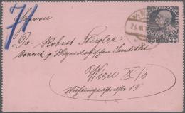 Österreich - Ganzsachen: 1884/1938 (ca.), Bestand Mit Ca. 690 Ganzsachen Mit Postkarten Einschl. Antwort- Und Bildp