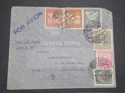 CHILI - Enveloppe De Santiago Pour La France En 1937 Par Avion , Affranchissement Plaisant - L 7888 - Chile