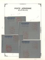 Spanien - Ganzsachen: 1947/1956, Interessante Sammlung Der Luftpostfaltbriefe Mit Freistempel-Freimachung Mit Ca. 70 Bri