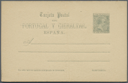 Spanien - Ganzsachen: 1890/1893, Posten Von 1077 Ganzsachenkarten, Gebraucht Und/oder Ungebraucht, Dabei Auch Bessere St
