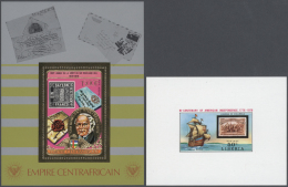 Thematik: Philatelie / Philately: 1970/1990 (ca.), STAMPS ON STAMPS, U/m Collection Of Apprx 730 Stamps And Apprx. 130 S