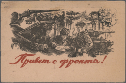 Sowjetunion: 1942/1944, 20 Covers And Cards, Most Of Them Illustrated, Sent By Military Mail. All With Censor Marks.