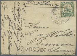 Russische Post In China: 1897/1918: Partie Von Ca. 33 Briefen/Karten, Ganzsachen Und Ansichtskarten Mit U.a. Belegen Aus