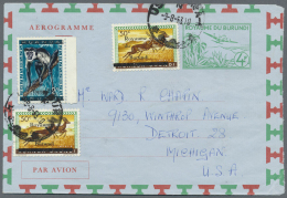 Burundi: 1963/1981 (ca.), AEROGRAMMES: Accumulation With About 155 Unused And Used/CTO Aerogrammes With Several Interest
